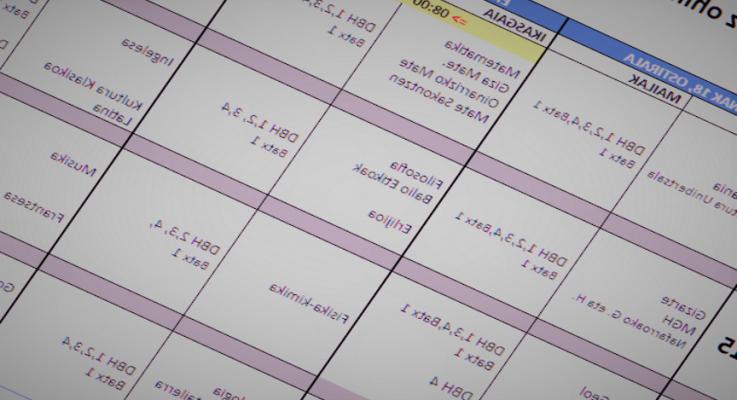 CONVOCATORIA EXTRAORDINARIA: calendario de exámenes